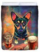 Yappy Hour Duvet Cover