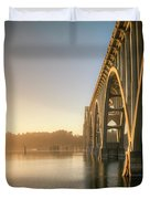 Yaquina Bay Bridge - Golden Light 0634 Duvet Cover