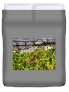 Yaquina Bay Roses Duvet Cover