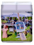 Yard Sale Day Duvet Cover