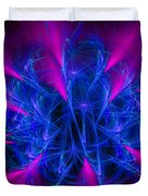 Yarn In Space - Fractal Art Blue And Pink Duvet Cover