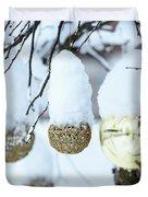 Yarn In The Snow Duvet Cover