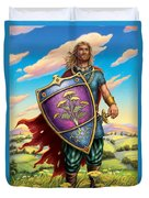 Yarrow - Protective Shield Duvet Cover by Anne Wertheim