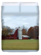 Ye Old Red Barn Duvet Cover