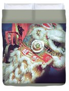 Year Of The Dog Camarillo Calif.  Duvet Cover