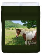 Yearling Colt In The Pasture Duvet Cover