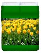 Yelllow Tulip Garden Duvet Cover