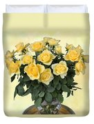 Yello Roses Duvet Cover