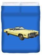 Yellow 1975 Cadillac Eldorado Convertible Duvet Cover