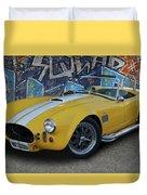 Yellow Ac Cobra  Duvet Cover