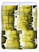 Yellow And Black 6 Duvet Cover