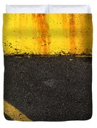 Yellow And Grey Wc  Duvet Cover