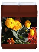 Yellow And Orange Marigolds Duvet Cover
