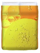 Yellow And Orange Oil Droplet On Water Duvet Cover