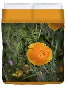 Yellow And Orange Poppy Duvet Cover