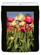 Yellow And Pink Tulips V 2018 Duvet Cover