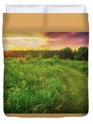 Retzer Nature Center - Yellow And Purple Summer Sunset  Duvet Cover