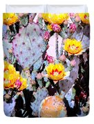 Yellow And Red Flower Duvet Cover