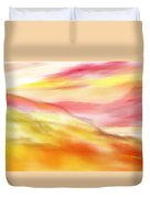 Yellow And Red Landscape Duvet Cover