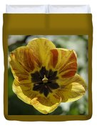 Yellow And Red Tulip Center Squared Duvet Cover