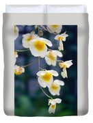 Yellow And White Cascading Flowers Duvet Cover