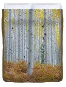 Yellow Aspen Grove Duvet Cover
