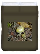 Yellow Autumn Mushroom Duvet Cover