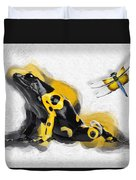 Yellow-banded Poison Dart Frog No 01 Duvet Cover