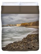 Yellow Bank Cliffs Duvet Cover