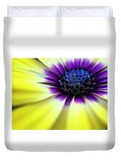Yellow Beauty With A Hint Of Blue And Purple Duvet Cover