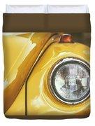 Yellow Beetle Duvet Cover