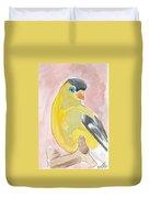 Yellow Bird 56 Duvet Cover