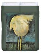 Yellow Bird In Field Duvet Cover