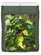 Orange Bird Duvet Cover