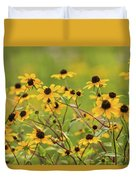 Yellow Black Eyed Susan Wildflowers In Summer Duvet Cover