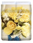 Yellow Bouquet Of Flowers Duvet Cover
