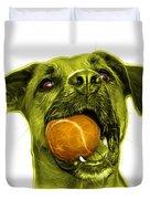 Yellow Boxer Mix Dog Art - 8173 - Wb Duvet Cover