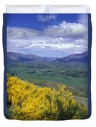 Yellow Broom Over Pasture In Dalefield Duvet Cover