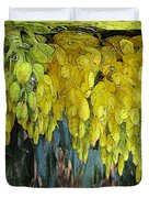 Yellow Buds Duvet Cover
