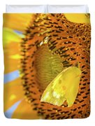 Yellow Butterfly And Sunflower Duvet Cover