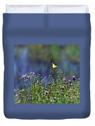 Yellow Butterfly Flyaway Duvet Cover