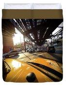 Yellow Cab Duvet Cover