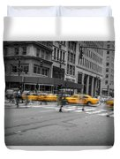 Yellow Cab On Fifth Avenue, New York 4 Duvet Cover