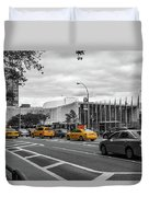 Yellow Cabs By The United Nations, New York 2 Duvet Cover
