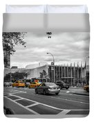 Yellow Cabs By The United Nations, New York 3 Duvet Cover