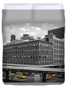 Yellow Cabs In Chelsea, New York 3 Duvet Cover