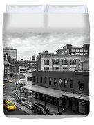 Yellow Cabs In Chelsea, New York 5 Duvet Cover