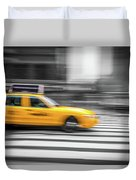 Yellow Cabs In New York 6 Duvet Cover