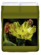 Yellow Cactus Blossom Duvet Cover