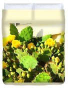 Yellow Cactus Blossoms 594 Duvet Cover